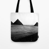 egypt Tote Bags featuring Egypt, Pyramids by DLS Design