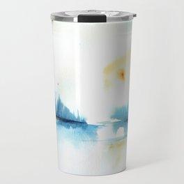 watercolor abstract landscape Travel Mug