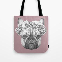 Pink Frenchie Tote Bag