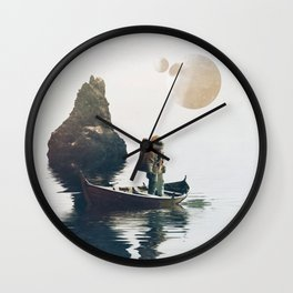 Searching Land Wall Clock