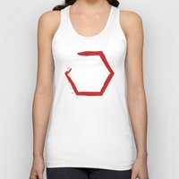 hexagon Tank Tops featuring Red Hexagon by C Designz