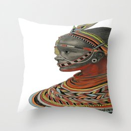 The Red Beads Throw Pillow