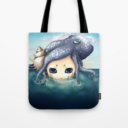 The monster in the sea is the water that reflects. Tote Bag