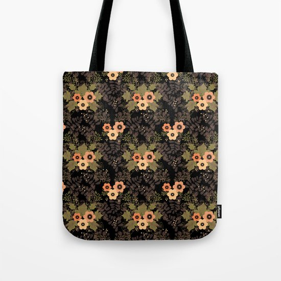 The floral pattern . Tote Bag