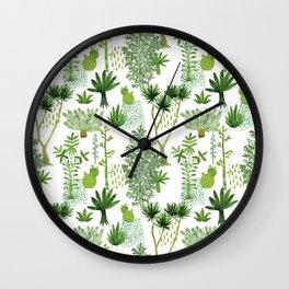 Green jungle pattern Wall Clock