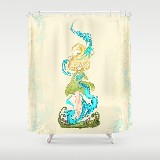 Girl Summoner Shower Curtain By StrijkDesign