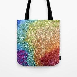 Colorful Glitter Tote Bag