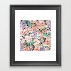 Because Sloths Watercolor Framed Art Print