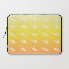 Botanical Pattern 2 in Sunglow Yellow Laptop Sleeve