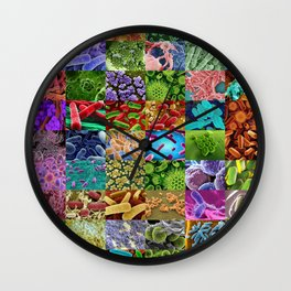 Bacteria Montage Wall Clock