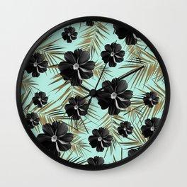 Tropical Diamond Flowers #3 #shiny #chic #floral #palms #decor #art #society6 Wall Clock