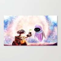 wall e Canvas Prints featuring Wall-e by p1xer