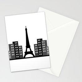 paris skyline Stationery Cards
