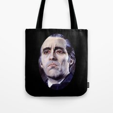 Christopher Lee as Dracula: He is the embodiment of all that is evil. Tote Bag