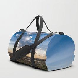 Explosion - Sunbeams Burst From Behind Storm Cloud in Kansas Duffle Bag