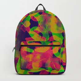 typographic illusion watercolor Backpack