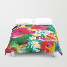 Hawaiian jungle Duvet Cover