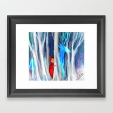red riding hood (cropped) Framed Art Print