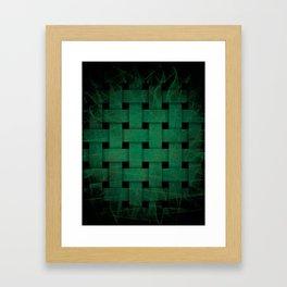 Green Weave Framed Art Print