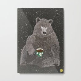 TEA BEAR Metal Print