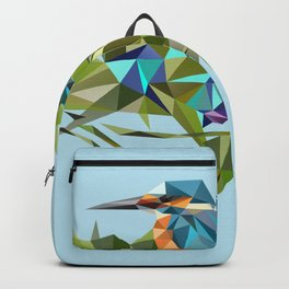 Common Kingfisher (halcyon) in Triangles Backpack