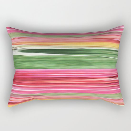 Abstract pattern . The red green . Rectangular Pillow