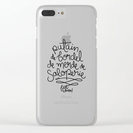 Sacres France - Black Clear iPhone Case