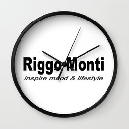 Riggo Monti Design #6 - Inspire Mood & Lifestyle (Key Phrase) Wall Clock