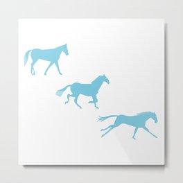 A Horse Runs_B Metal Print