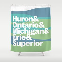 Great Lakes Ampersand Shower Curtain