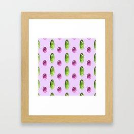 Oval Cabochon Pattern Framed Art Print