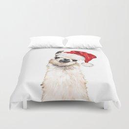 Christmas Llama Duvet Cover