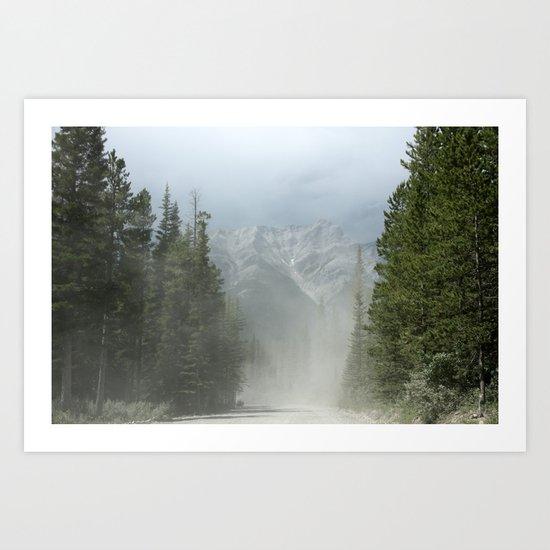 mountains ahead Art Print