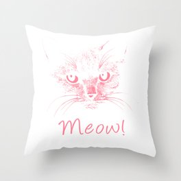Meow! Simple Cat Style pw Throw Pillow