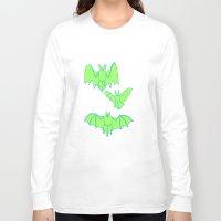 bats Long Sleeve T-shirts featuring Bats by idrewthestars