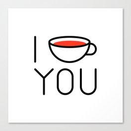 I Coffee You - Love, Coffeeholic Canvas Print