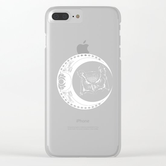 Owl and Moon Clear iPhone Case