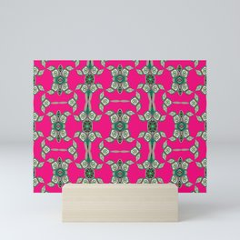 Soulful Aboriginal Turtle Pink Neo Tribal Print Mini Art Print