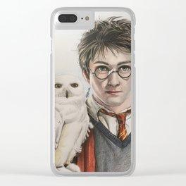 Harry & Edvige fan art Clear iPhone Case