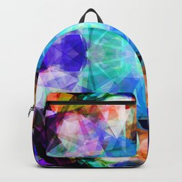 Abstract lavender lilac modern kaleidoscope pattern Backpack