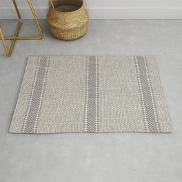 Vintage Grain sack Grey Linen  Rug