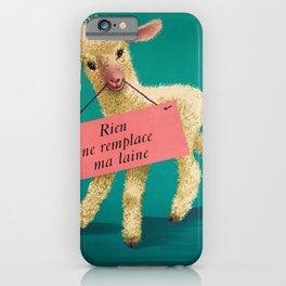 retro plakat rien ne remplace ma laine h iPhone Case