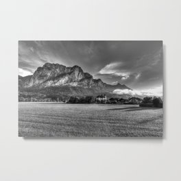 St Lorenz Austria Monochrome Metal Print