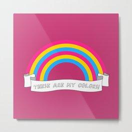 Pan pride rainbow Metal Print