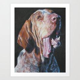 Bracco Italiano dog art portrait from an original painting by L.A.Shepard Art Print
