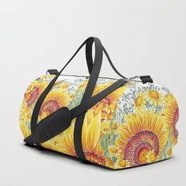 Vintage Garden 15 (Sunflower Field) Duffle Bag
