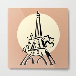 Eiffel Tower Sunset @ Sunrise Metal Print