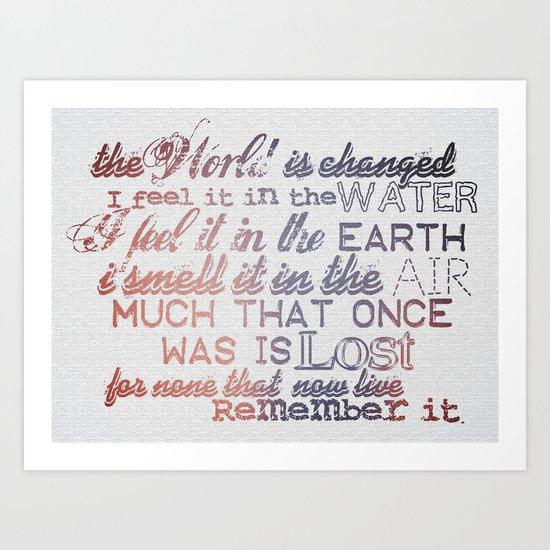 Remember it. Art Print