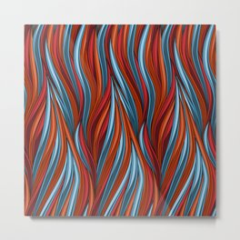 Abstract Seamless Wavy Pattern Metal Print