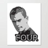divergent Canvas Prints featuring Divergent: Four by Flash Goat Industries